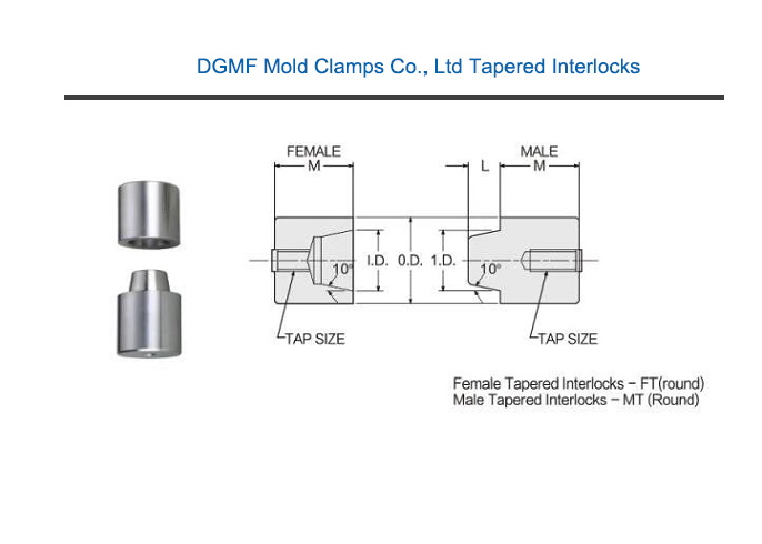 DGMF Mold Clamps Co., Ltd tapered interlocks drawing