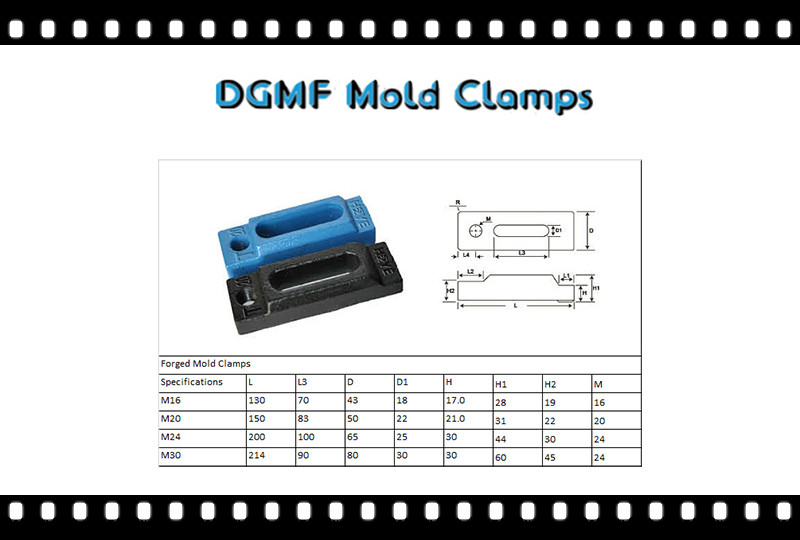 DGMF Mold Clamps Co., Ltd -  Forged Mold Clamps closed toe mold clamp specifications