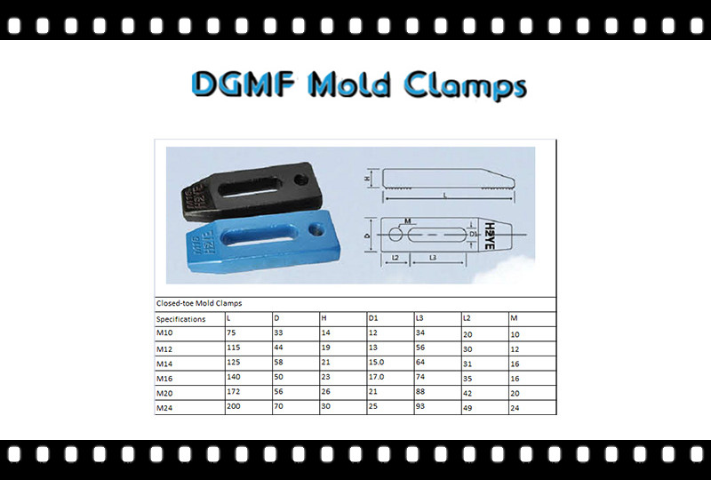 DGMF Mold Clamps Co., Ltd - Closed-toe Mold Clamps specifications and mold clamps price